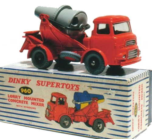 Dinky 960 Lorry Mounted Cement Mixer with box
