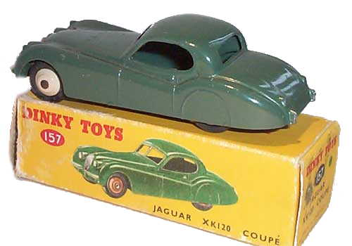 Dinky 157 Jaguar XK120 Coupe rear view