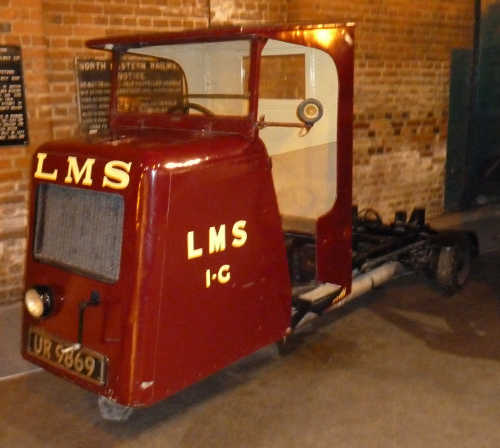 A vehicle at the National Railway Museum